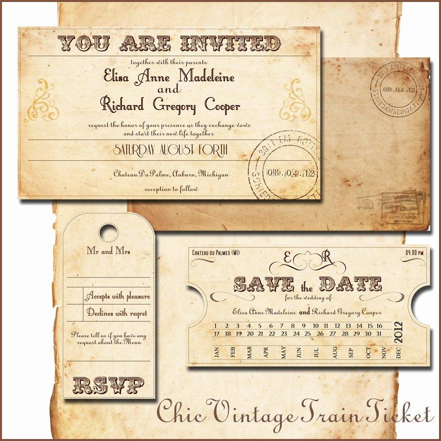 Train Ticket Template Best Of Train Ticket Wedding Invitations