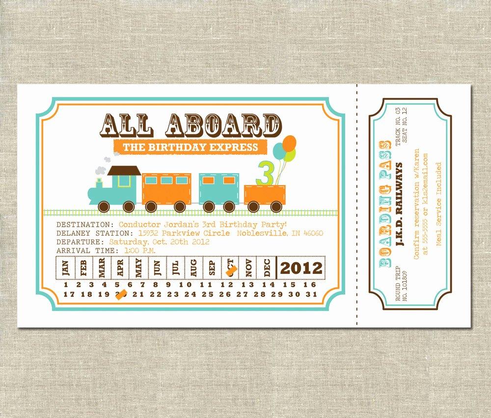 Train Ticket Template Inspirational Kara S Party Ideas Invitation Celebration Tar Amazon