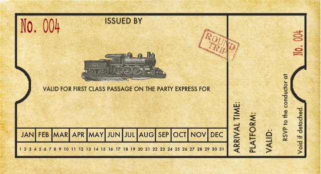 Train Ticket Template Luxury Spaghetti Westerner Free Printables Modern Diy Train