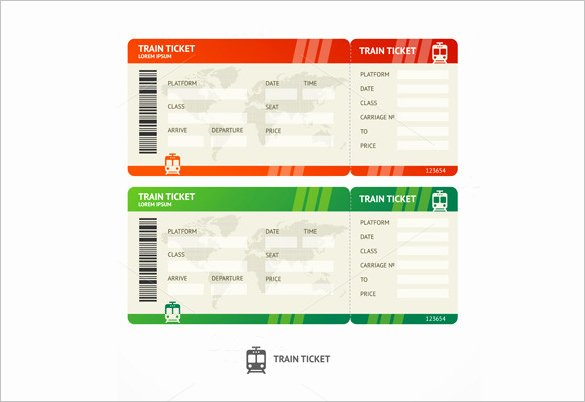 Train Ticket Template Luxury Ticket Templates – 99 Free Word Excel Pdf Psd Eps