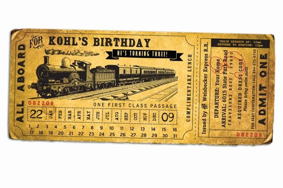 Train Ticket Template New 12 Best Images About Train Ticket Invitations On Pinterest