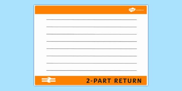 Train Ticket Template New Blank Train Ticket Template Train Ticket Template Writing