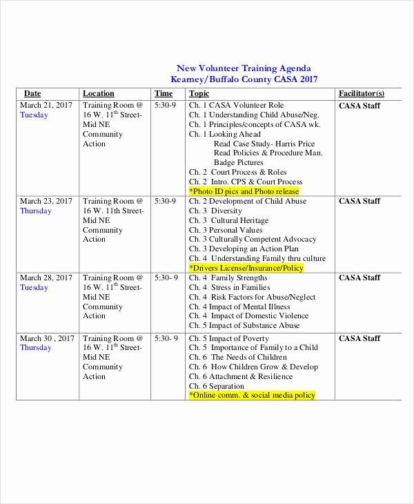 Training Agenda Template In Word Awesome 23 Training Agenda Examples & Samples