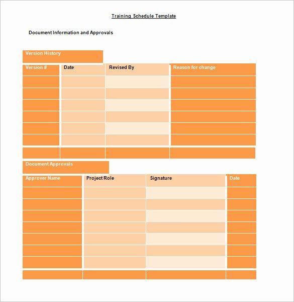 Training Agenda Template In Word Elegant Training Schedule Template 7 Free Sample Example