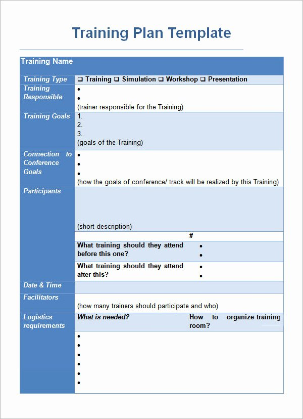 Training Agenda Template In Word Lovely Training Plan Template 16 Download Free Documents In
