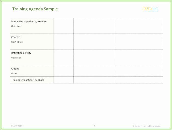 Training Agenda Template In Word Unique Free Training Agenda Template for Word Effective Agendas