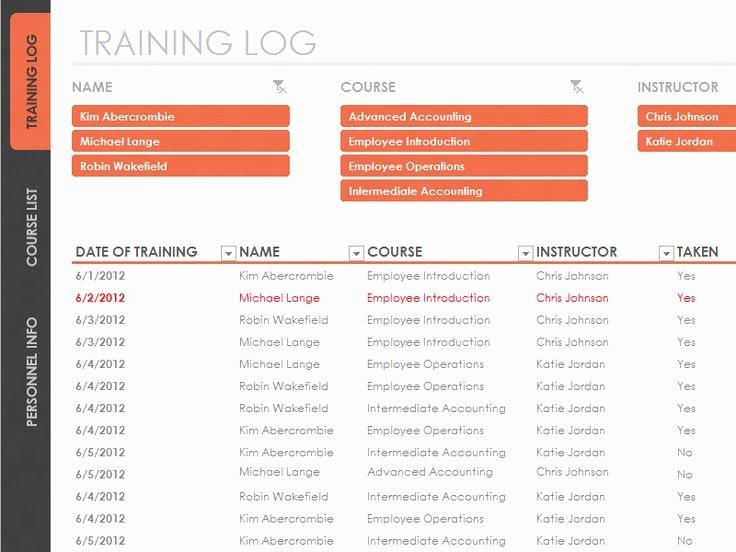Training Log Template Best Of Employee Training Tracker Templates Fice
