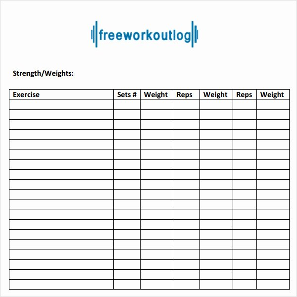 Training Log Template Best Of Sample Workout Log Template 8 Download In Word Pdf Psd