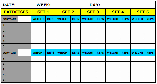 Training Log Template Lovely What Should Be Recorded In My Workout Journal Physical