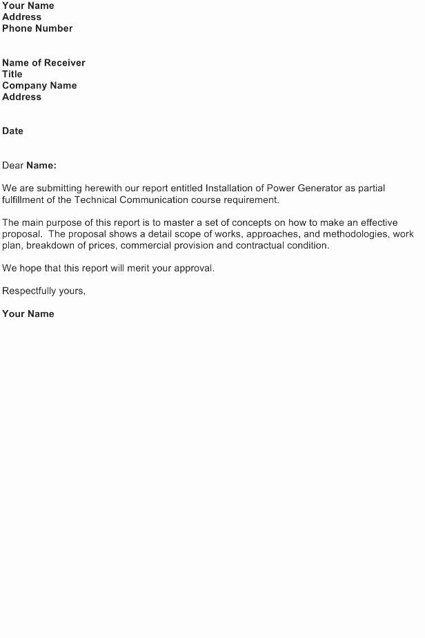 Transmittal form Sample Luxury Transmittal Letter – Proposal Report