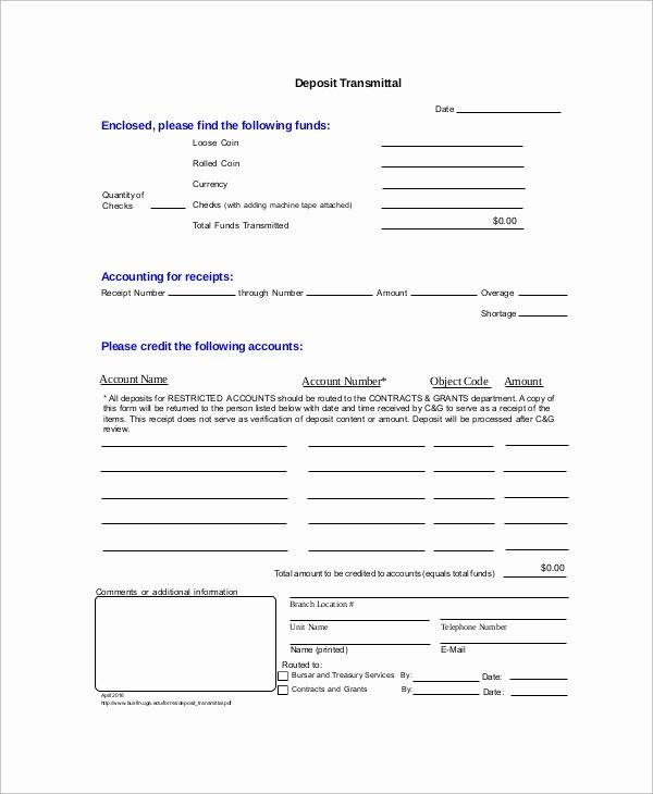 Transmittal form Templates New Sample Transmittal form 9 Examples In Pdf