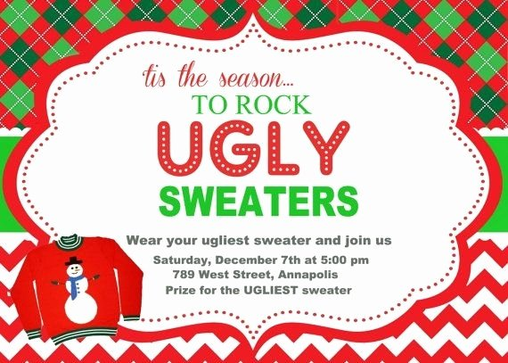 Ugly Sweater Invitation Template Free Awesome Ugly Sweater Invitation Template Free