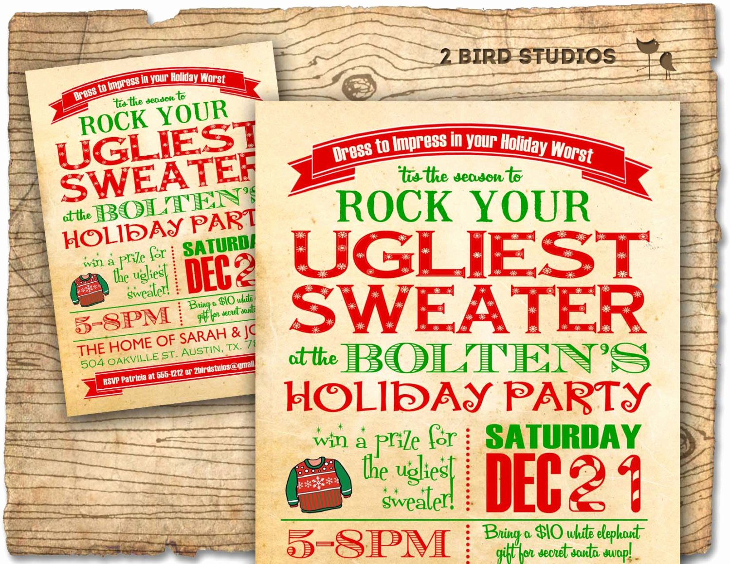 Ugly Sweater Invitation Template Free Best Of Holiday Party Invitation Ugly Sweater Christmas Party