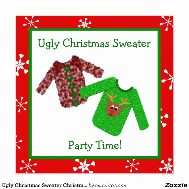 Ugly Sweater Invitation Template Free Best Of Ugly Christmas Sweater Christmas Party Invitations