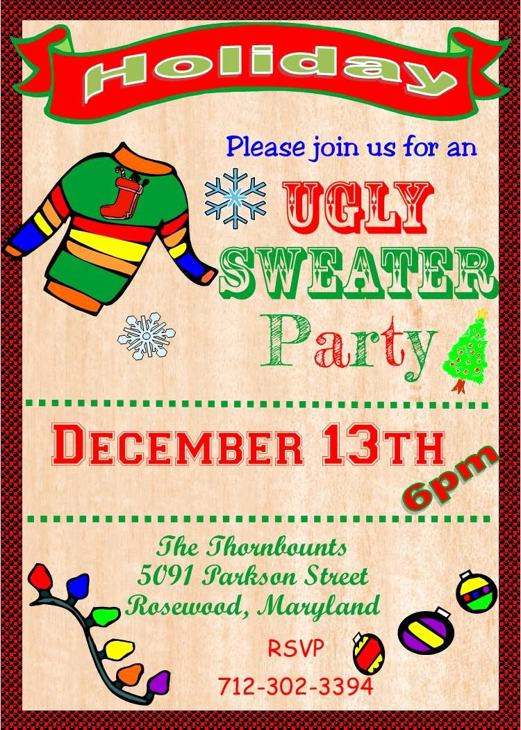 Ugly Sweater Invitation Template Free Elegant Baptism Invitation Ugly Sweater Invitation Template Free