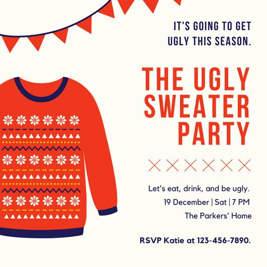 Ugly Sweater Invitation Template Free New Customize 7 886 Invitation Templates Online Canva