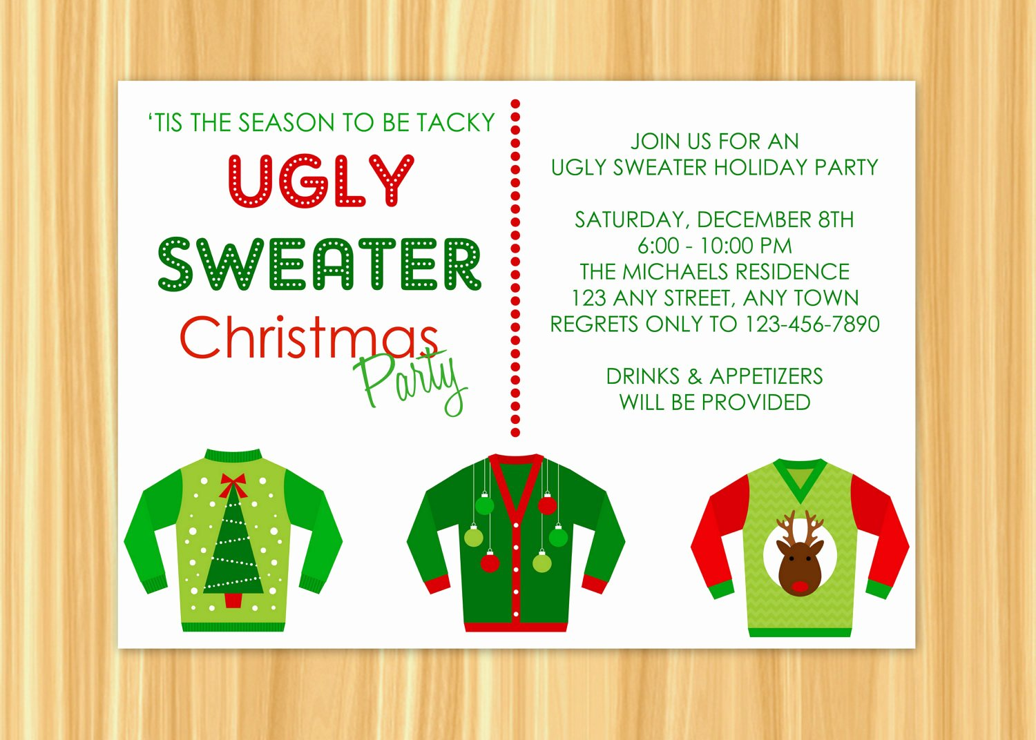 Ugly Sweater Invitation Template Free Unique Ugly Sweater Invitation Ugly Sweater Holiday Party