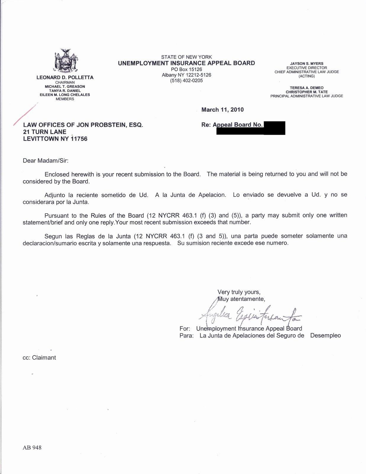 Unemployment Appeal Letter Luxury Administrative Law Judge California Unemployment Insurance