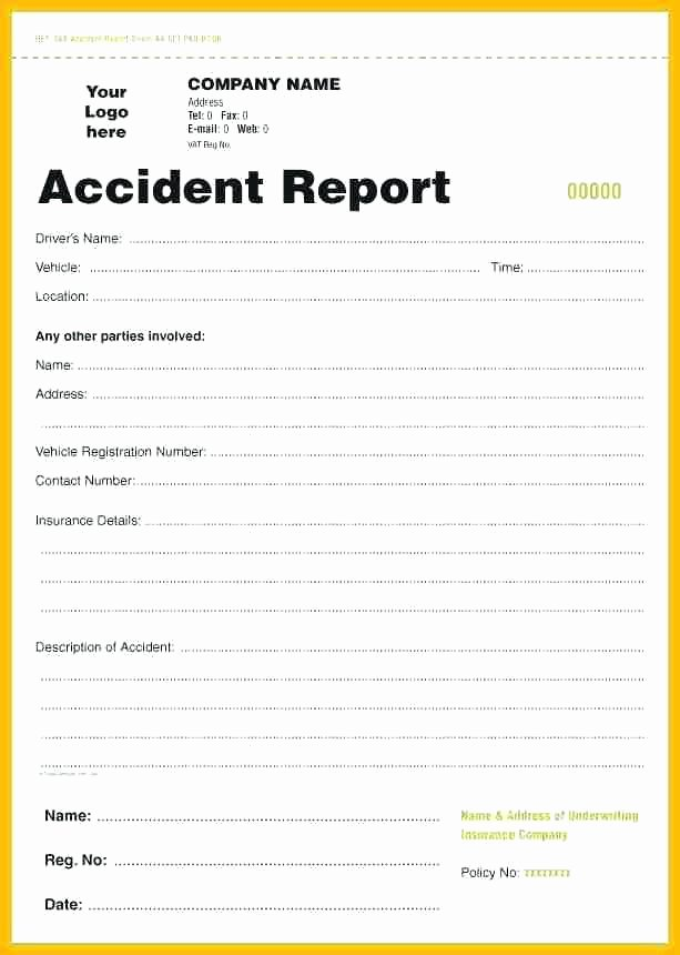 work accident report form template employee incident free workplace