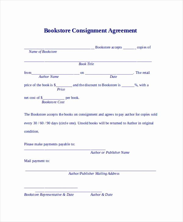 sample consignment agreement form