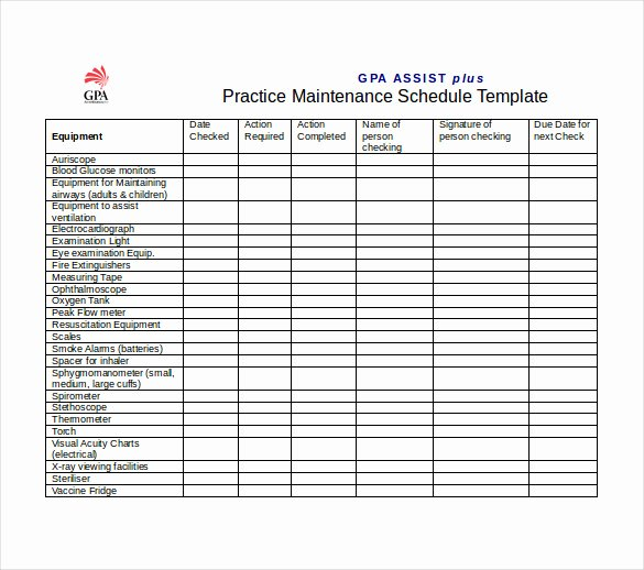 Vehicle Maintenance Checklist Excel Awesome Vehicle Maintenance Schedule Template Excel
