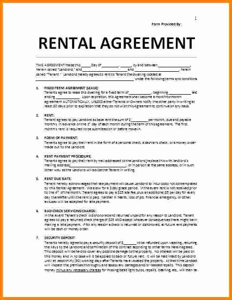 Venue Rental Agreement Template Awesome 6 Rent Agreement Template