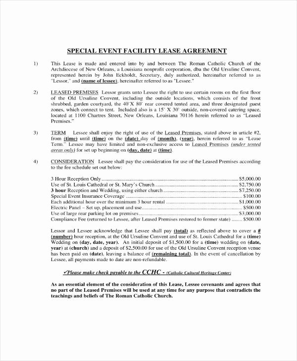 Venue Rental Agreement Template New 7 event Venue Contract Templates Pdf Word Google Docs