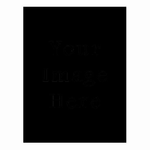 black postcard vertical customized template cards