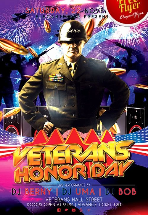 Veterans Day Flyer Template Free Awesome Pin by Dominic Digesualdo On Party Ideas
