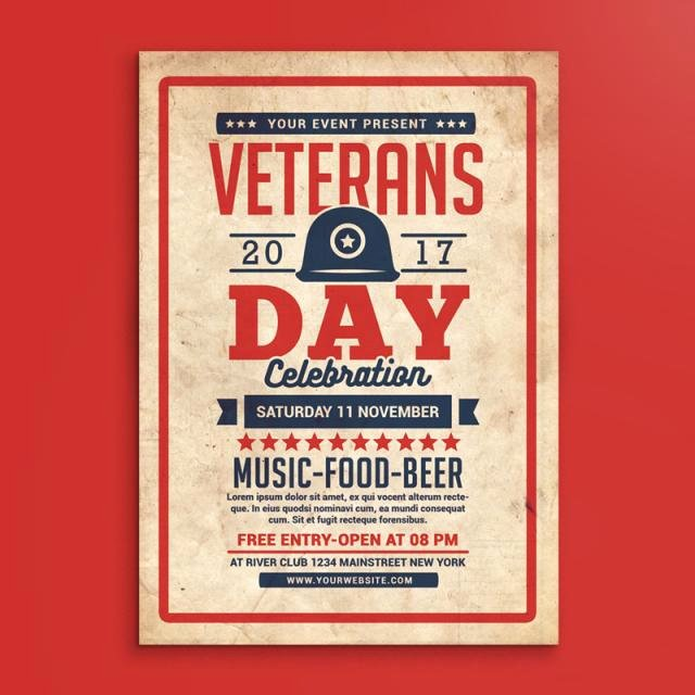 Veterans Day Flyer Template Free Awesome Veterans Day Flyer Template for Free Download On Tree