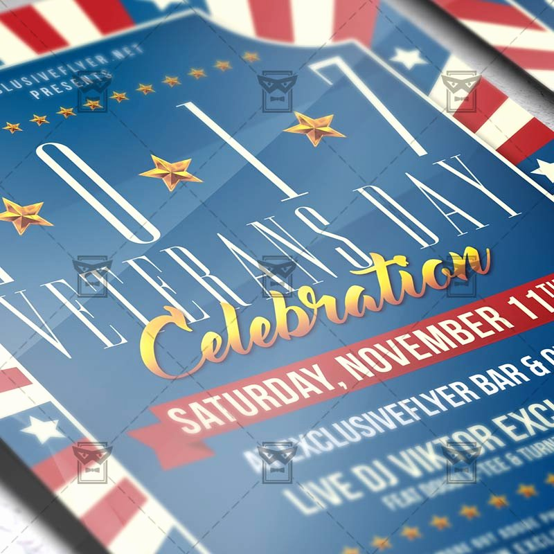 Veterans Day Flyer Template Free Awesome Veterans Day – Seasonal A5 Flyer Template
