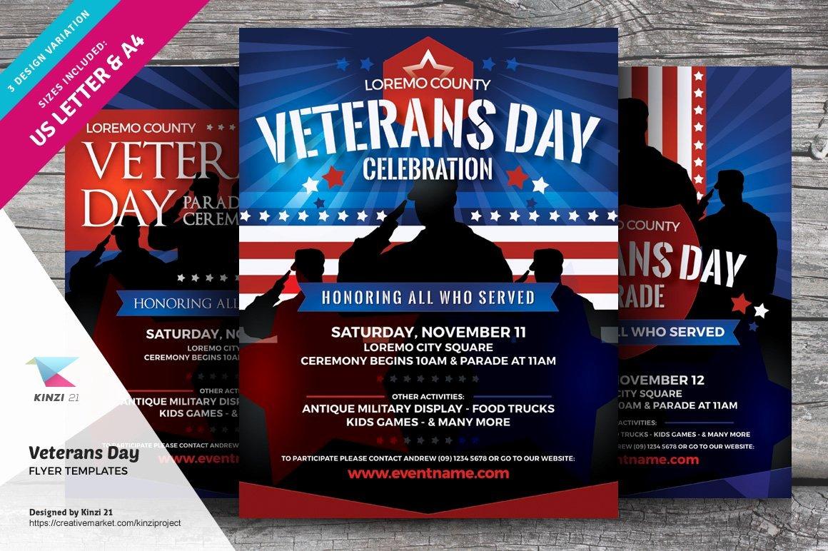 Veterans Day Flyer Template Free Elegant Veterans Day Flyer Templates Flyer Templates Creative