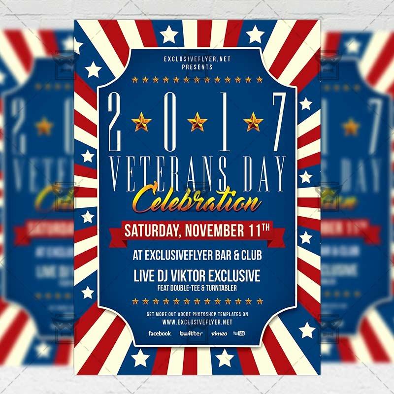 Veterans Day Flyer Template Free Lovely Veterans Day – Seasonal A5 Flyer Template