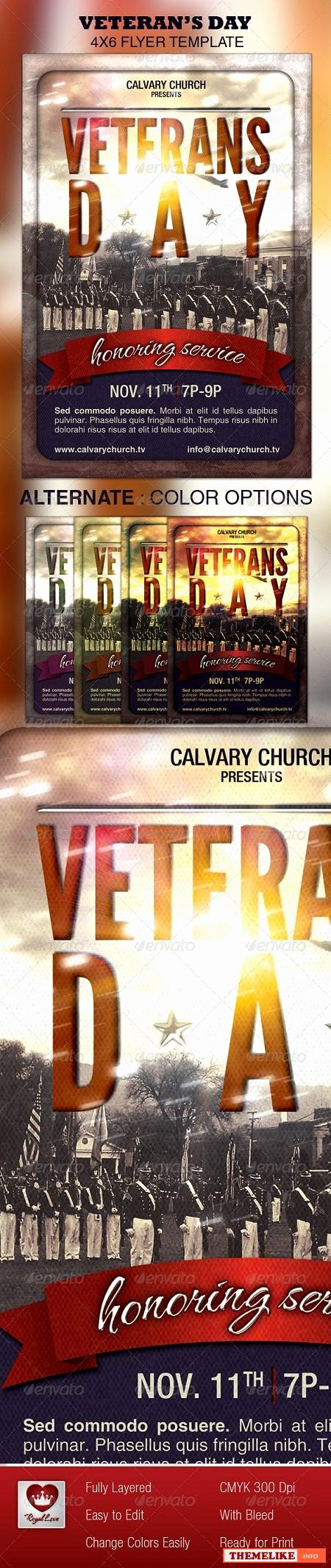 Veterans Day Flyer Template Free Luxury Veterans Day Psd Flyer Template All Design Template