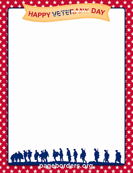 Veterans Day Flyer Template Free New Printable Veterans Day Border Use the Border In Microsoft