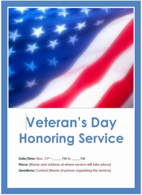 Veterans Day Flyer Template Free New Veterans Day Flyer