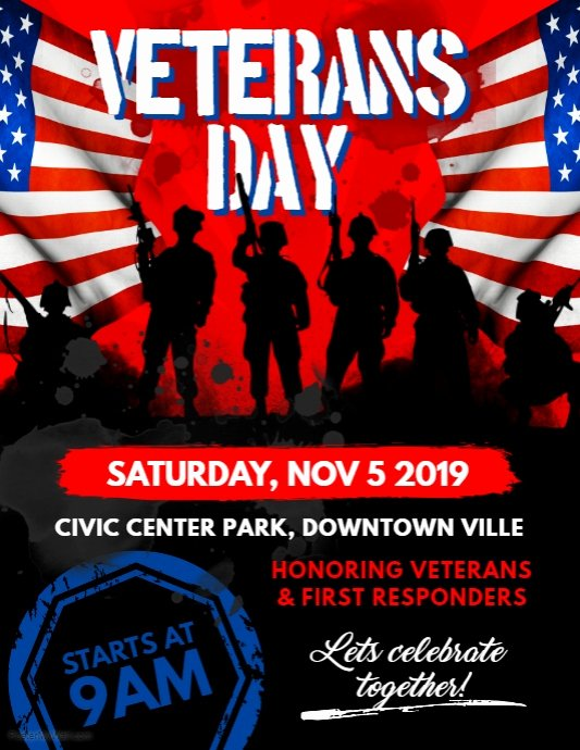 Veterans Day Flyer Template Free New Veterans Day Flyer Template