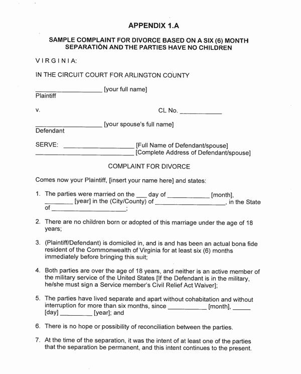 Virginia Separation Agreement Template Elegant Download Virginia Separation Agreement Template for Free