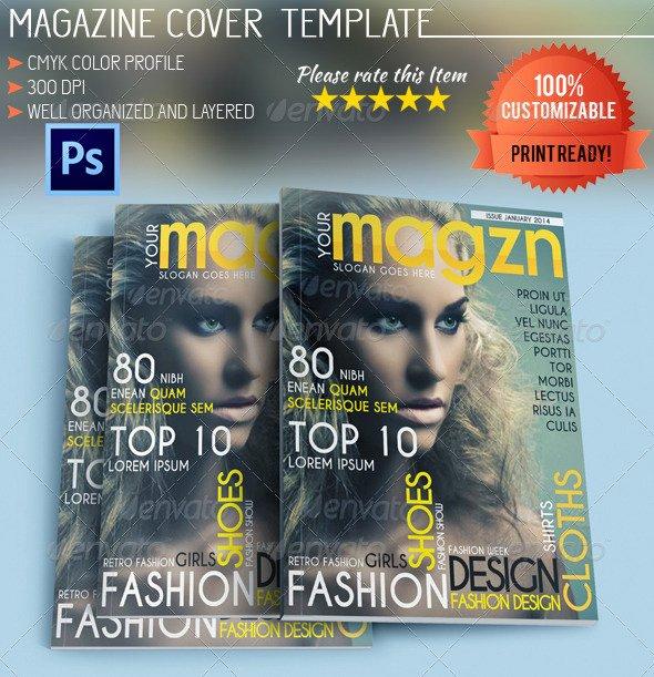 Vogue Magazine Cover Template Inspirational Fashion Magazine Cover