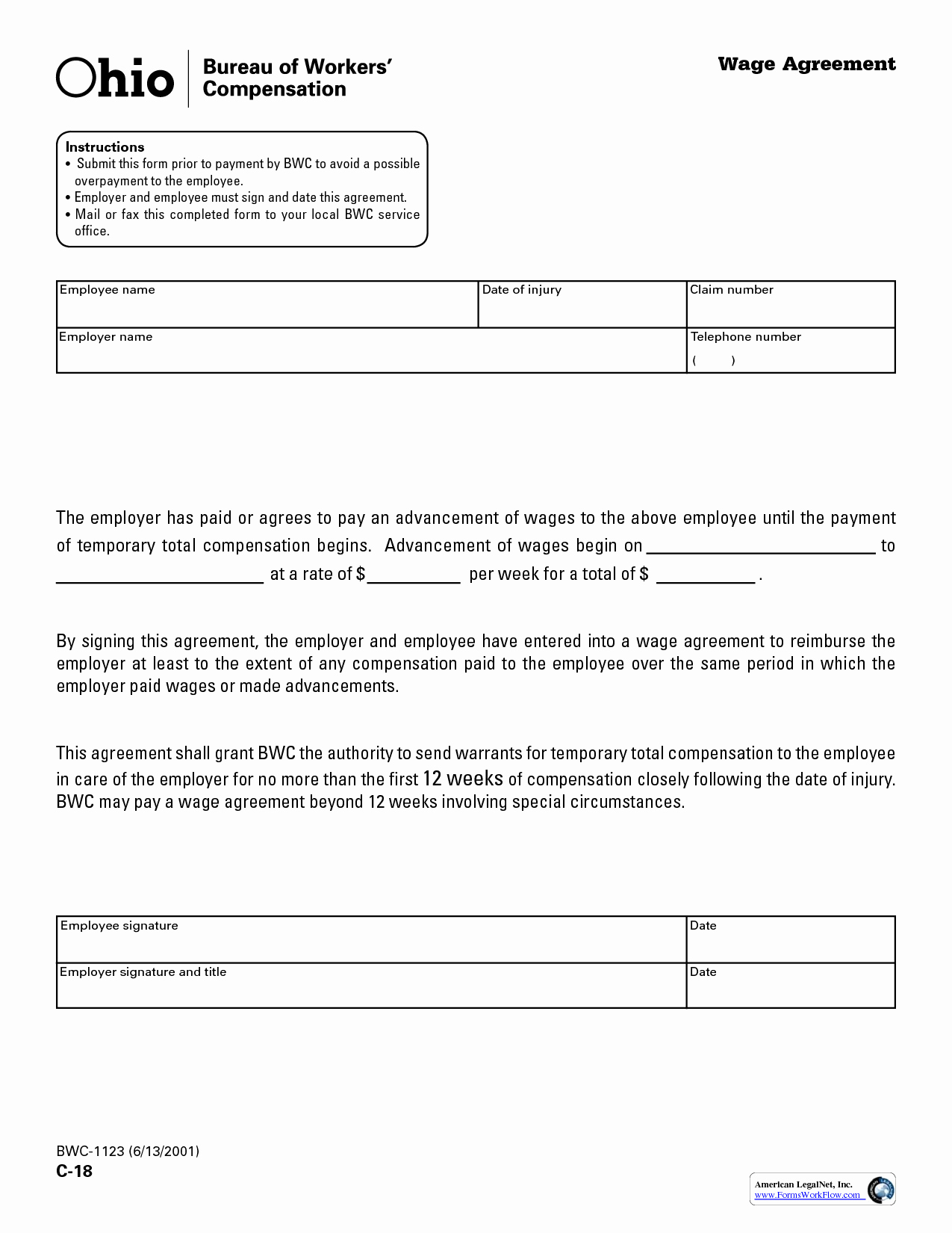 Wage Increase form Fresh 10 Best Of Employee Wage Agreement form Salary