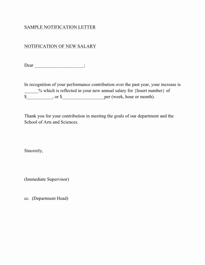 Wage Increase form Lovely Salary Increase Template Free Documents for Pdf