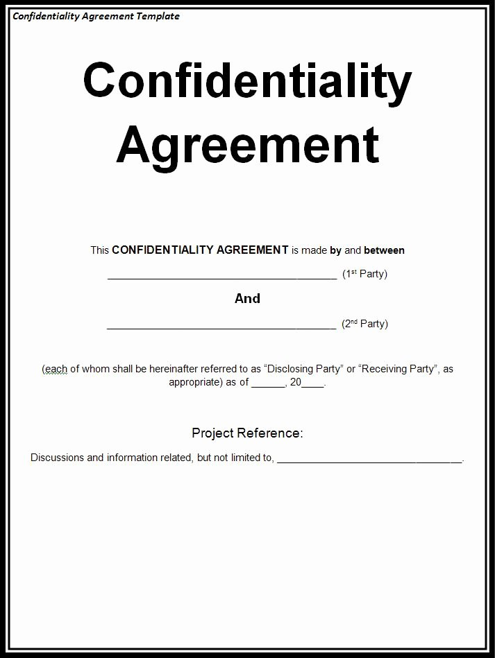 Waiver Template Word Awesome 10 Confidentiality Agreement Templates