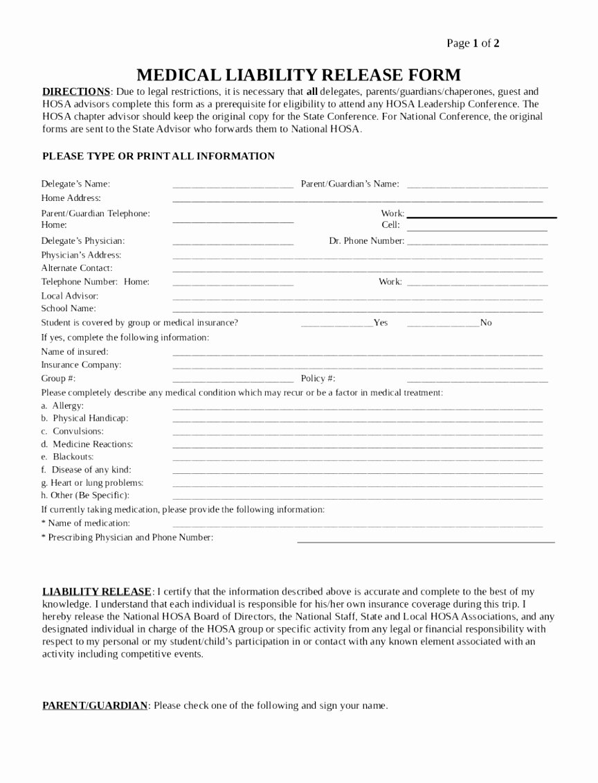 Waiver Template Word Awesome Lifetime Fitness Guest Waiver – Blog Dandk