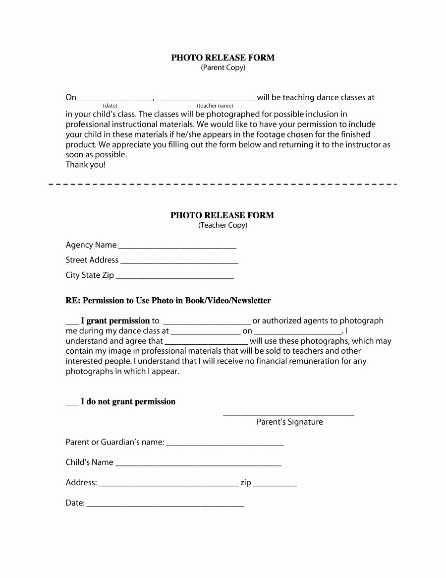 Waiver Template Word Elegant 53 Free Release form Templates [word Pdf