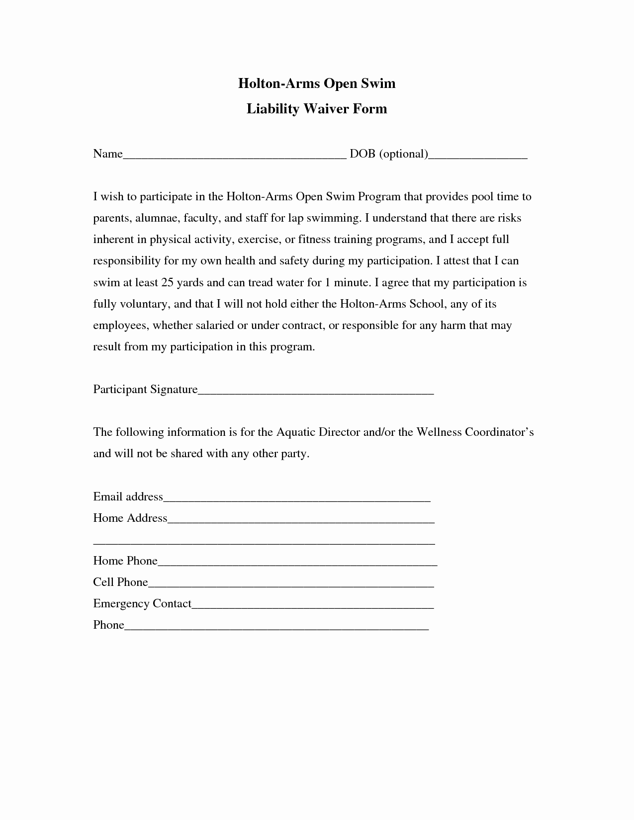 Waiver Template Word Lovely Liability Insurance Liability Insurance Waiver Template