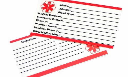 Wallet Card Template Free Inspirational Medical Wallet Card Template You Will Never Believe these