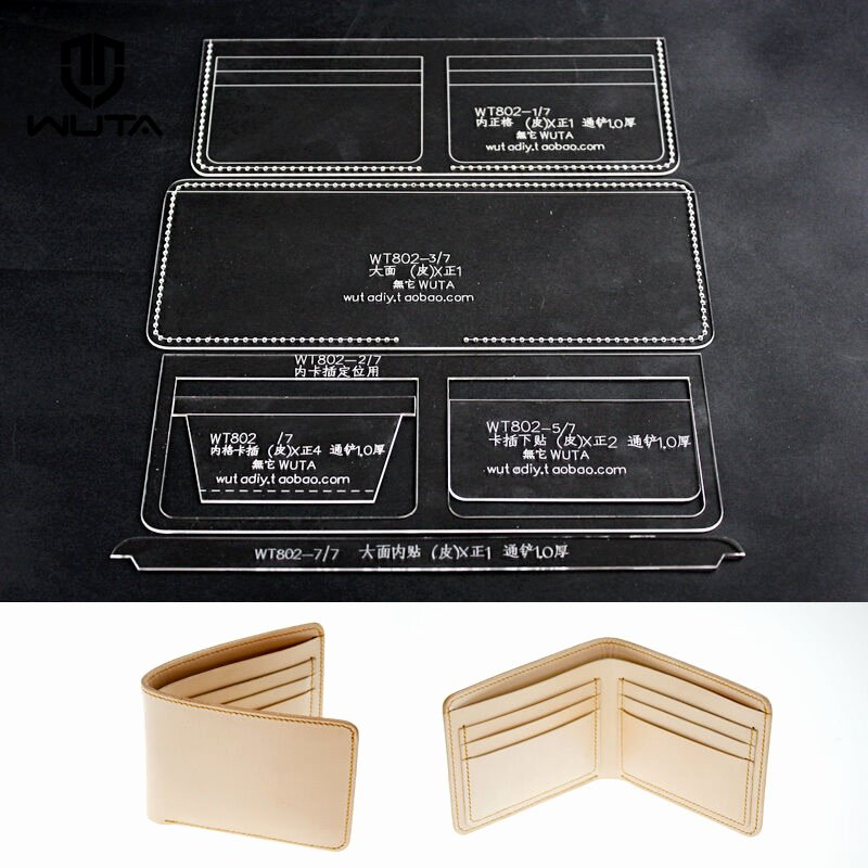 Wallet Card Template Free Unique Wuta Leather Clear Acrylic Stencil Template Wallet Pattern