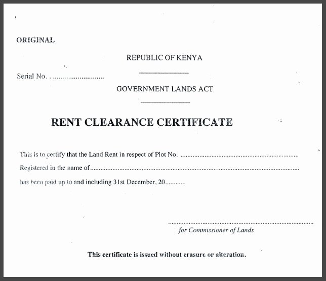 clearance certificate templates