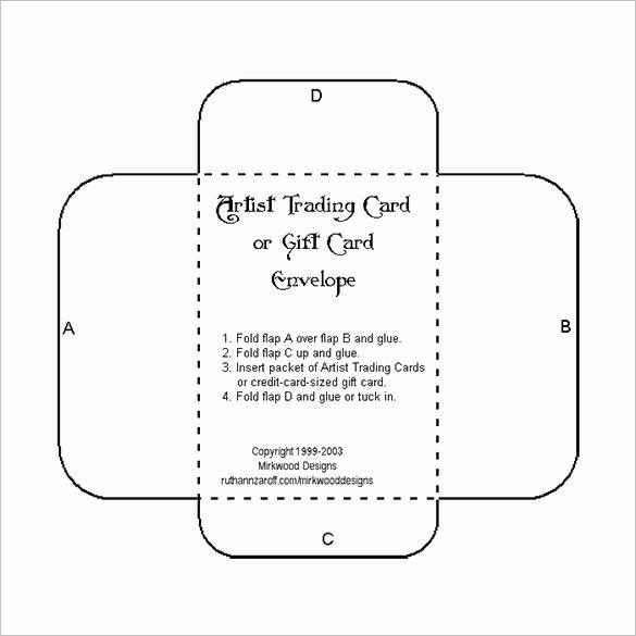 Wallet Card Template Word Fresh Printable Gift Card Envelope Template