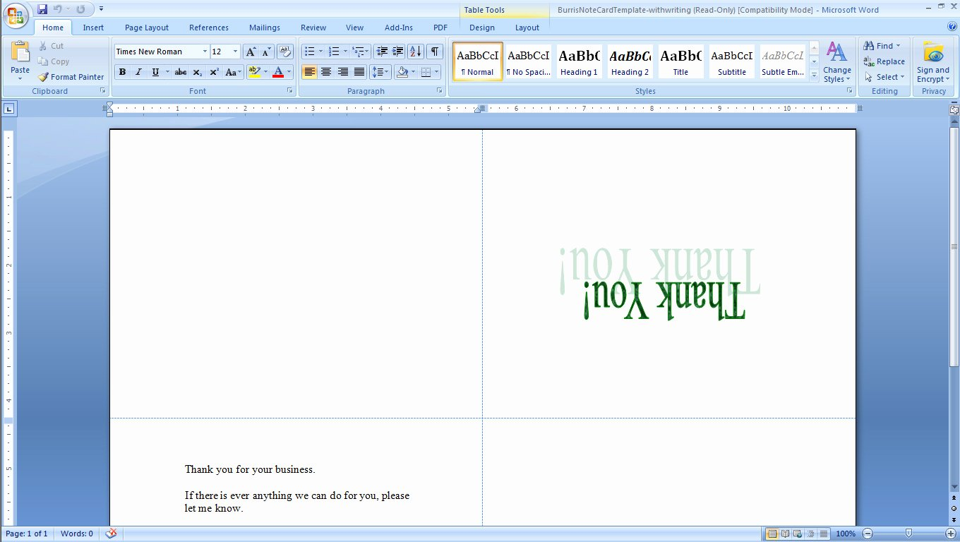 Wallet Card Template Word Unique How to Print Your Own Tent Cards In Microsoft Word